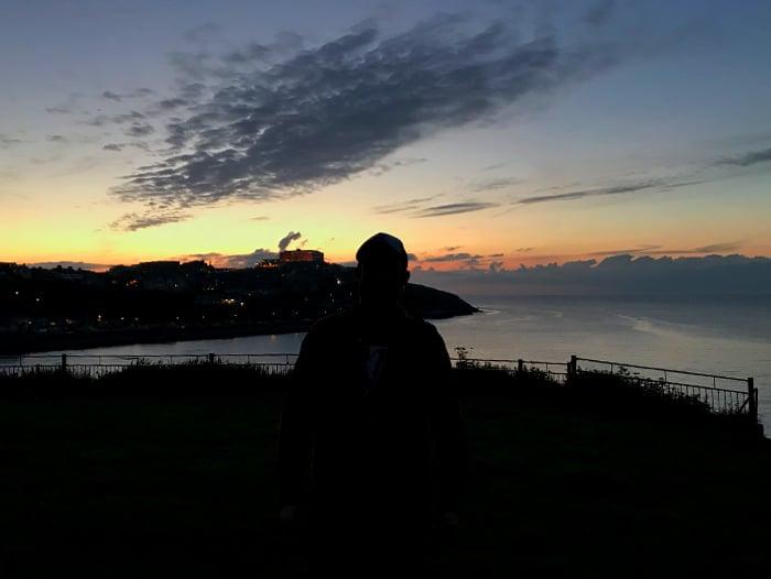 Photo of Foksys Silhouette at Towan Beach, Newquay, Cornwall, UK