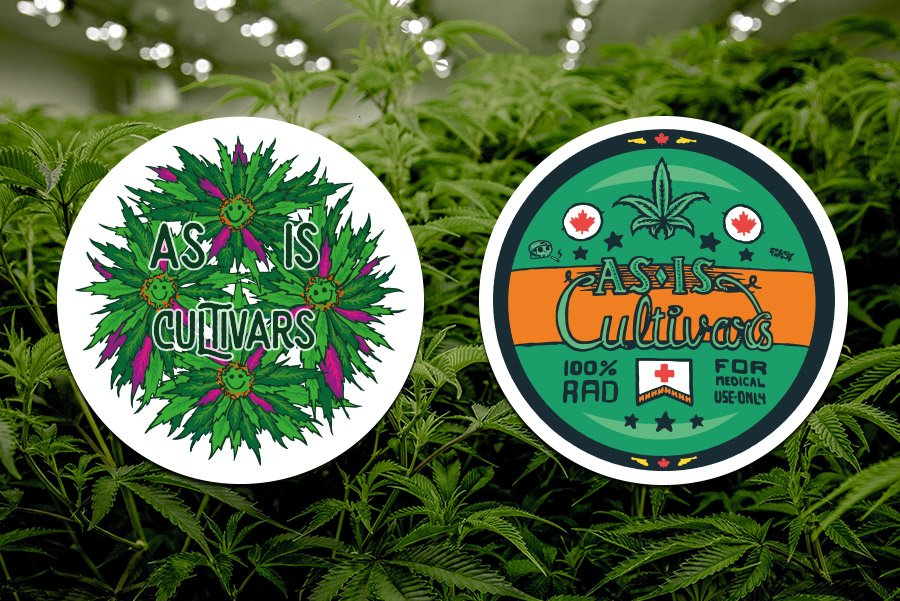 As is cultivar sticker designs of weed for a medicinal marijuana grower