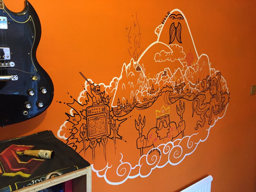 photo of a mural painted with posca markers