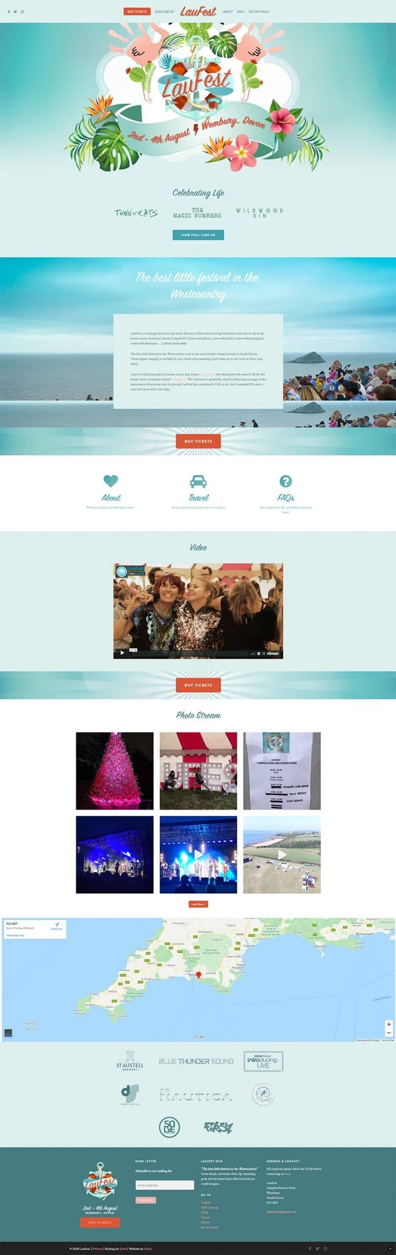 Layout design of the Laufest Charity website