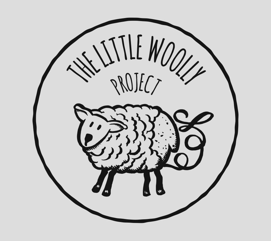 Little Woolly project logo of a hand illustrated sheep being unraveled