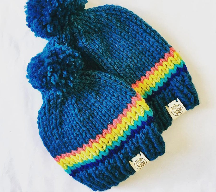 a couple of beanies made by the Little woolly project